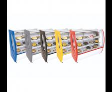 Balcão Refrigerado para Tortas 1,25mts Premium Vidro Semi Curvo 5102