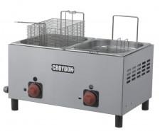 Fritador à Gás 02 Cubas 4,5 Litros Inox Croydon F2BG