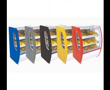 Balcão Estufa para Salgados 1,25mts Vidro Semi Curvo Premium Polofrio 5302