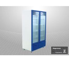 Refrigerador Vertical 02 Portas 830L Porta Vidro Polofrio 2412