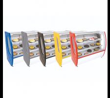 Balcão Refrigerado para Tortas 1,00mts Premium Vidro Semi Curvo 5101