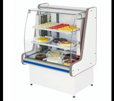 Balcão Refrigerado 1,25mts para Tortas Pop Luxo Vidro Semi Curvo Polofrio 5005