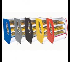 Balcão Estufa para Salgados 85cm Vidro Semi Curvo Premium Polofrio 5301