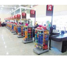 Check-Stand 70cm CRISTAL AÇO 462721