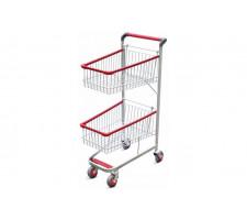 Carrinho para supermercados duplocar 70 litros FABRICAR 1813