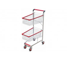Carrinho para supermercados duplocar 140 litros FABRICAR 0883