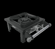 Fogão Industrial de Mesa 1 queimador duplo Perfil 5 S2020 M1 30x30 METALMAQ