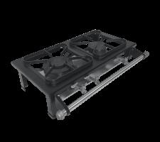 Fogão Industrial  2 bocas de Mesa 1 Queimador Simples e 01 Queimador duplo Perfil 5 S2020 M02 30x30 METALMAQ